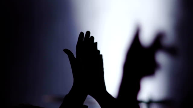 Slow motion: Clapping hands on concert video