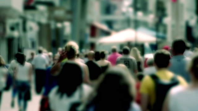 Slow Motion crowd, shopping in the summer 30fps video