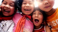 Slow motion : Excited Asian Children video