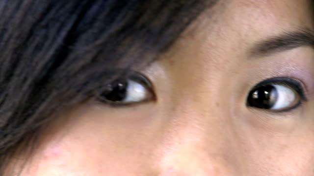 slow motion eyes video