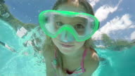 Slow Motion Female Swimmer in Swimming Pool video