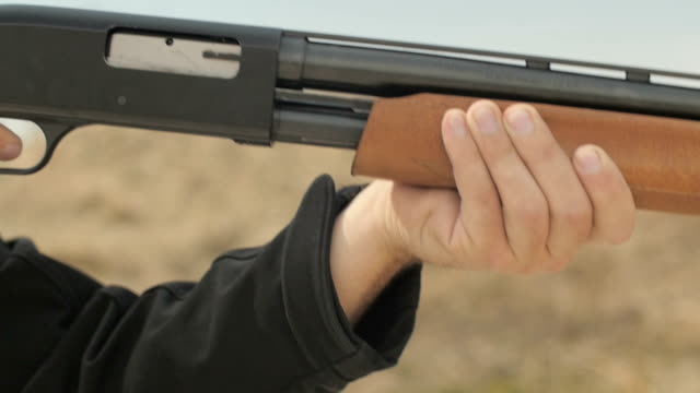 Slow Motion Firing and Pumping Shotgun video