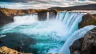 Slow Motion Godafoss Waterfall - Iceland video