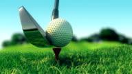 Slow motion golf swing video