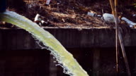 Slow Motion HD: Waste pipe or drainage polluting environment video