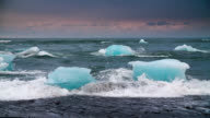 Slow Motion Icebergs at Jokulsarlon Beach - Iceland video