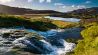 Slow motion Iceland Landscape with Waterfall video