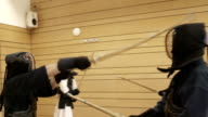 Slow motion Kendo training video