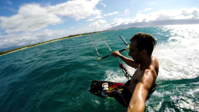 Slow Motion Kite Surfing video