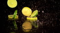 Slow Motion Lemons and Limes video