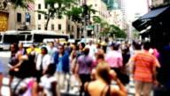 Slow Motion Manhattan Pedestrians video