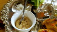 Slow motion of a typical passover seder plate video