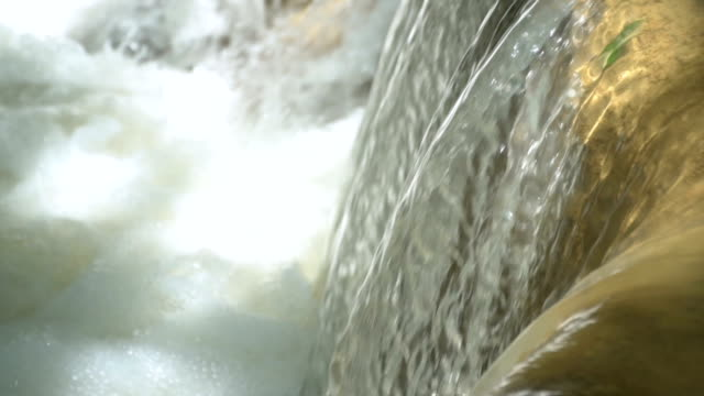Slow motion of Close-up Waterfall video