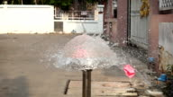 Slow Motion Of Dart Puncturing A Pink Water Balloon video