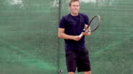 Slow Motion Of Professional Tennis Player Expressing Disappointment Over Losing video