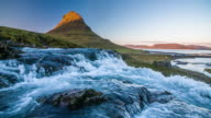 Slow Motion of Waterfall at Kirkjufell Mountain - Iceland video