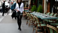Slow motion Parisian Woman video