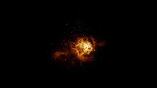 Slow Motion Realistic Explosion + Alpha video