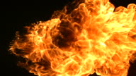 Slow motion shot fire ball explosion video
