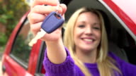 Slow Motion Shot Of Teenage Girl Sitting In Car video