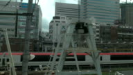 Slow motion shot of view from window. video