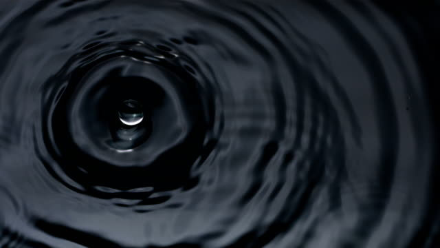 Slow motion shot of water drops video