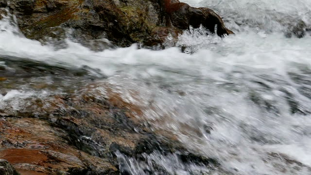 Slow motion shot of waterfall video