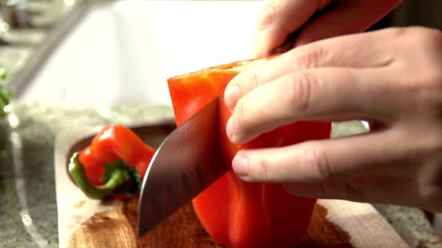 Slow Motion Slicing Vegetables video