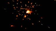 Slow motion sparkler burning video