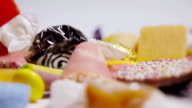 Slow Motion Sweets Falling video
