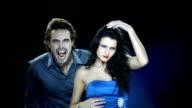 HD Slow Motion: Vampire Biting Beautiful Woman video