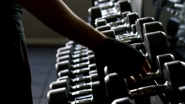 slow motion Video : fitness man in the gym video