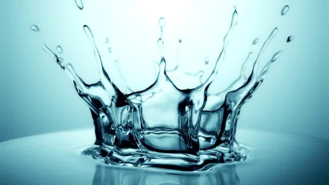 Slow motion water drop splash video