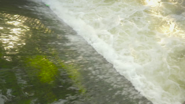 Slow motion: Waterfall background, flows of water video