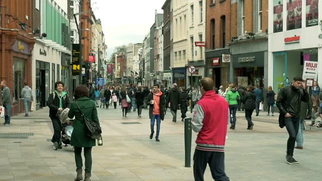 Slow motion:Grafton Street, Dublin, Ireland video