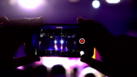 Slow motion:Smartphone at a music concert video