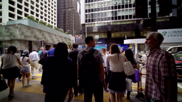 Slow motion,Tracking shot :Hongkong Crossroad video