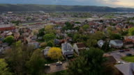 Slow Moving Aerial of Typical Western Pennsylvania Town video