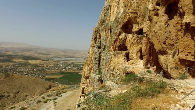 Slow Pan Over Valley from Mountain in Israel video