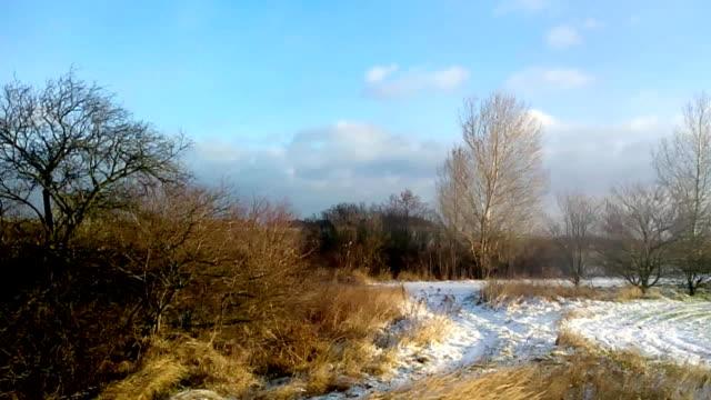Slow passage through landscape video