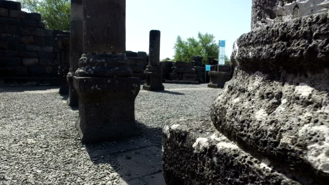 Slow Rotation Around Base of Columns in Old Synagogue video
