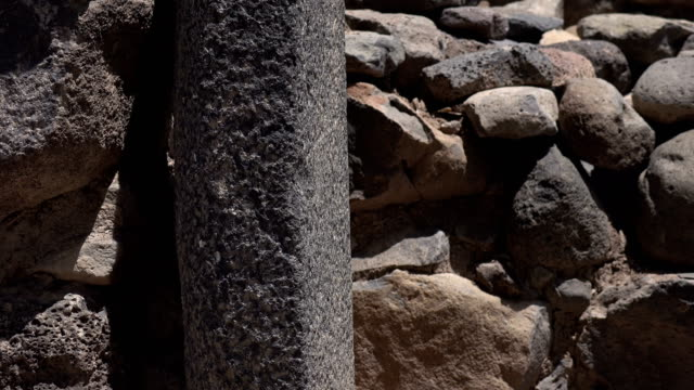 Slow Tight Pan of Altar at Entrance to Ancient Ruined City video