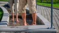 Slow walk trough the smal pool video