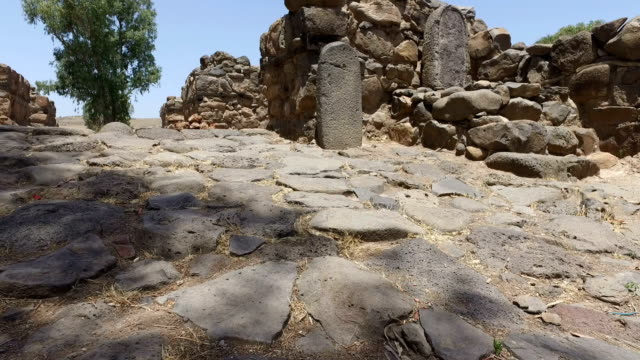 Slowly Approaching Ancient Gate to Ruins of City video