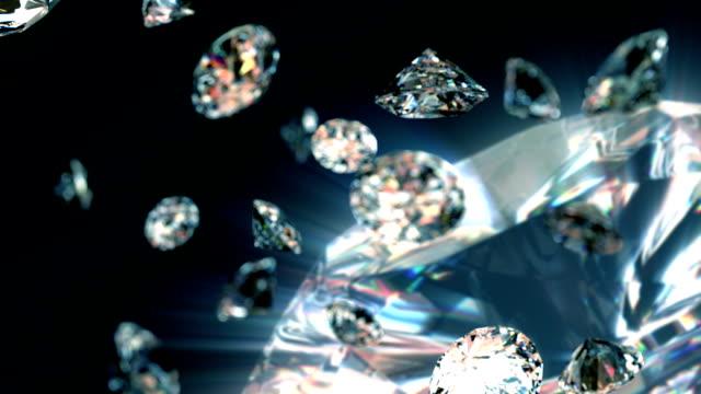 slowly falling diamonds video