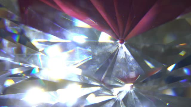 Slowly Rotating Diamond, Close Up. video