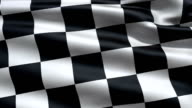 Slowly waving race flag video