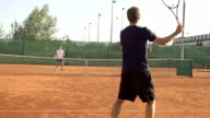 Slow-Mo: Professional Tennis Player Missing The Ball video