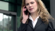 Slow-Mo: Stressed Businesswoman Argues On Phone. Close-Up. video