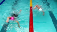 HD Slow-Mo: Young Women Swimming Front Crawl video